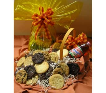 Fresh Baked Cookie Basket in Big Rapids MI, Patterson's Flowers, Inc.