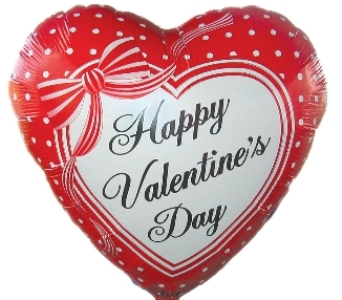 6 Valentine Mylar Balloons in Big Rapids MI, Patterson's Flowers, Inc.