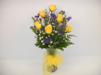 one half dozen yellow roses in Camden AR, Camden Flower Shop
