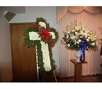 Cross and Sympathy Basket in Chicago IL, Soukal Floral Co. & Greenhouses
