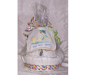 Diaper Cake Unisex in Winter Park FL, Apple Blossom Florist