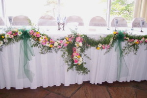 Head Table Swag in Waukegan IL, Larsen Florist
