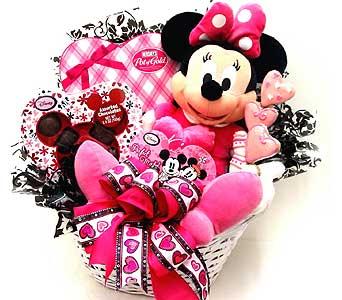 VGB401 Minnie Mouse Mania Valentines Basket In Oklahoma City OK, Array Of  Flowers U0026 Gifts