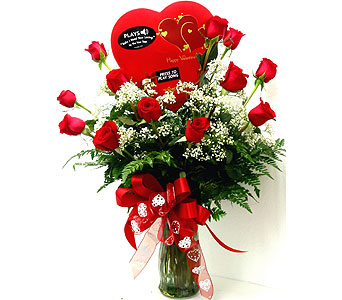 VF117 ''Singing Valentine'' Roses, Chocolates and in Oklahoma City OK, Array of Flowers & Gifts
