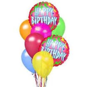 Happy Birthday Mylar Balloons in Indianapolis IN, George Thomas Florist
