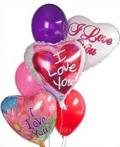 I Love You Balloon Bouquet in Indianapolis IN, George Thomas Florist