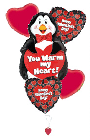 Warm My Heart Penguin Balloon Bouquet in Yakima WA, The Blossom Shop