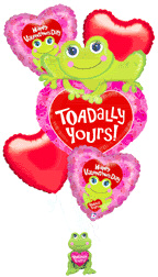 Toadally Yours Balloon Bouquet with Tad the Frog in Yakima WA, The Blossom Shop