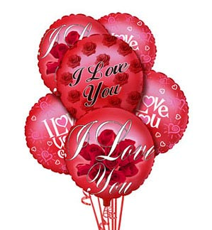 I love U Balloon Bouquet in Cote St-Luc QC, Fleuriste Fleurissimo