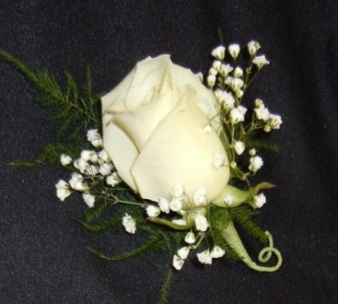 Boutonniere Single Rose in Utica NY, Chester's Flower Shop And Greenhouses