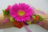 Prom Wristlet - Gerbera Daisies and Assorted flowe in Utica NY, Chester's Flower Shop And Greenhouses