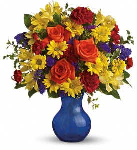 Teleflora's Three Cheers for You! in North Syracuse NY, The Curious Rose Floral Designs