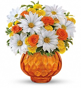 Teleflora's Rise and Sunshine in Austintown OH, Crystal Vase Florist