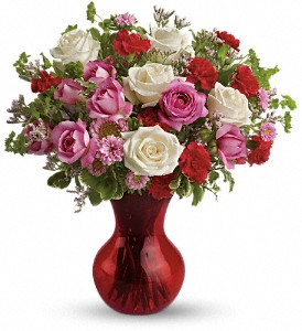 Teleflora's Splendid in Red Bouquet with Roses in Park Ridge IL, High Style Flowers