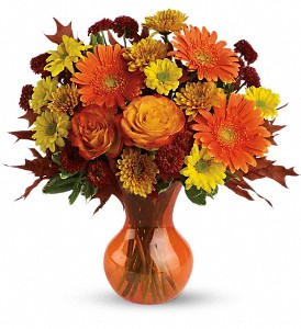 Teleflora's Forever Fall in Menomonee Falls WI, Bank of Flowers
