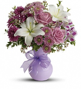 Teleflora's Precious in Purple in Gaithersburg MD, Flowers World Wide Floral Designs Magellans