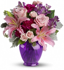 Teleflora's Elegant Beauty in Austintown OH, Crystal Vase Florist