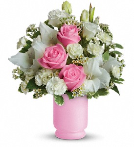 Teleflora's Pink and White Delight in London ON, Lovebird Flowers Inc
