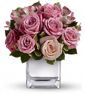Teleflora's Rose Rendezvous Bouquet in Boerne TX, An Empty Vase