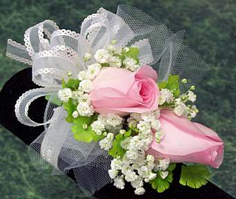 Double Rose Corsage in Wading River NY, Forte's Wading River Florist