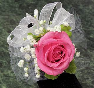 Single Rose Corsage in Wading River NY, Forte's Wading River Florist