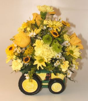 Tractor Bouquet in Salisbury MD, Kitty's Flowers