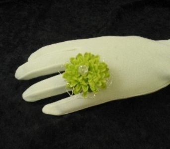 Ring Corsage in Bloomington IL, Forget Me Not Flowers