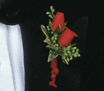 Royal red boutonniere in Scarborough ON, Helen Blakey Flowers