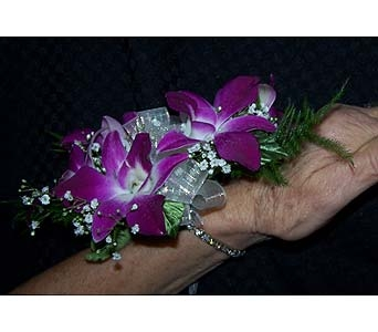 Wrist Corsage with Crystal Bracet in Voorhees NJ, Nature's Gift Flower Shop
