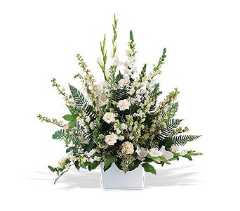 White Expressions Tribute in Cohasset MA, ExoticFlowers.biz