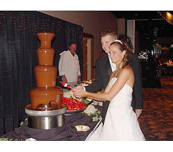 Chocolate Fountain Wedding Receptions in Grand Island NE, Roses For You!