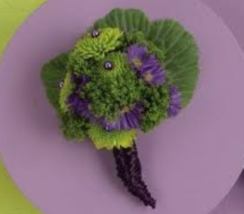 Green and Purple Boutonniere in Manhattan KS, Westloop Floral