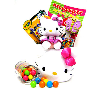KGB38 ''Hello Kitty'' Fabric Gift Basket in Oklahoma City OK, Array of Flowers & Gifts
