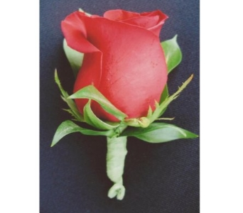 Red Rose Boutonniere in West Bloomfield MI, Happiness is...Flowers & Gifts