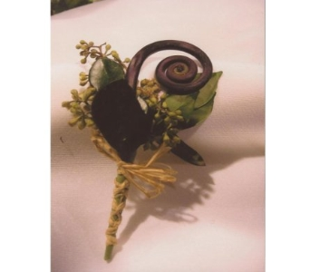 Fern Curl Boutonniere in West Bloomfield MI, Happiness is...Flowers & Gifts