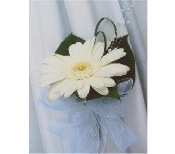 Gerbera Daisy Corsage in West Bloomfield MI, Happiness is...Flowers & Gifts
