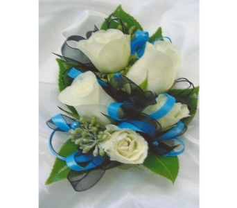 Sweetheart Roses with Wire Loops Corsage in West Bloomfield MI, Happiness is...Flowers & Gifts