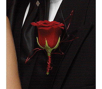 Boutonniere - Rose Red in Mission Viejo CA, Conroy's Flowers