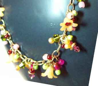 Garden Summer Flower Necklace in Lawrence KS, Englewood Florist