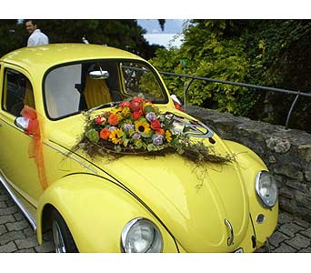 DECORATED WEDDING CAR in Hanover PA, Country Manor Florist