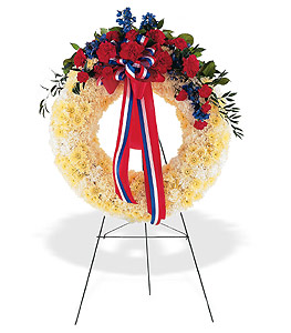 PATRIOTIC SPIRIT WREATH in Arlington VA, Twin Towers Florist