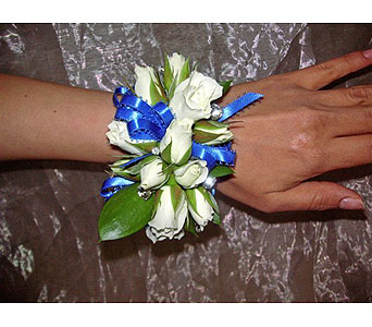 Blingy White Rose Corsage$60$70$80 in West Los Angeles CA, Westwood Flower Garden