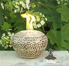 Fire Pot_medium in Madisonville KY, Exotic Florist & Gifts