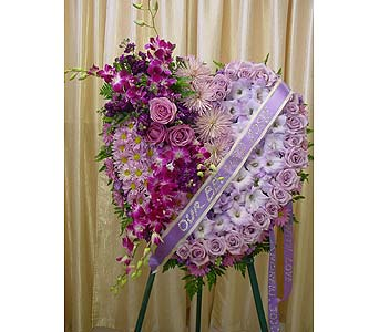 Gracious Lavender Heart in Orange CA, Main Street Florist