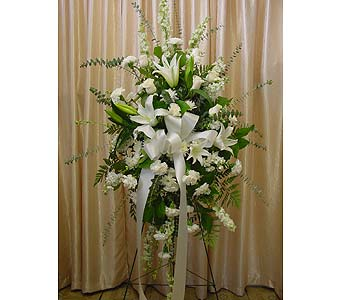 Traditional White Spray in Orange CA, Main Street Florist