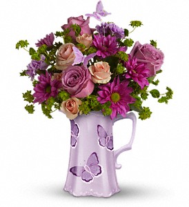 Teleflora's Butterfly Pitcher Bouquet in Sarasota FL, Sarasota Florist & Gifts, Inc.
