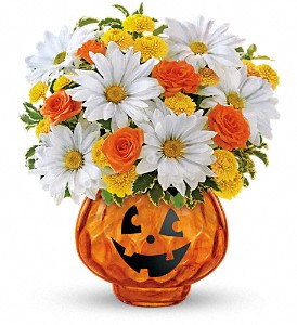Teleflora's Glass-O'-Lantern Bouquet in Morgantown PA, The Greenery Of Morgantown