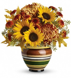 Teleflora's Harvest Stripes Bouquet in Whittier CA, Ginza Florist