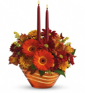 Teleflora's Autumn Artistry Centerpiece in Oklahoma City OK, Array of Flowers & Gifts