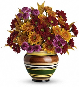 Teleflora's Rings of Autumn Bouquet in Palos Heights IL, Chalet Florist